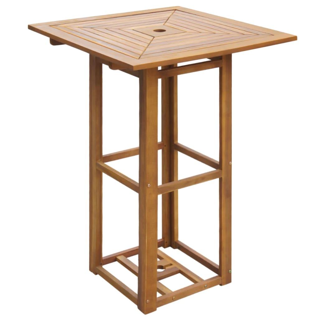 vidaXL Outdoor akácfa bár asztal