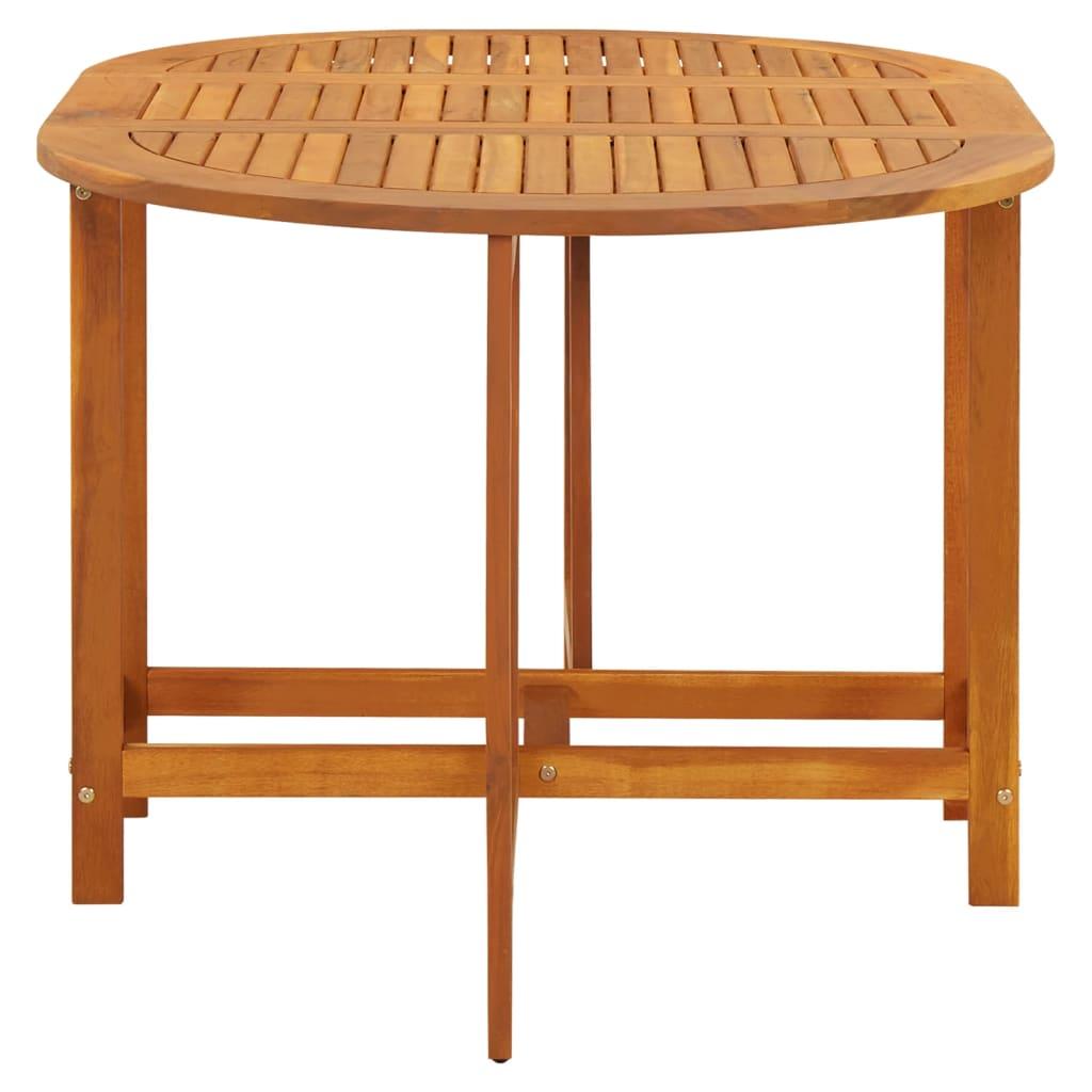 Acheter vidaxl table abattants d 39 ext rieur ovale bois d for Table exterieur ovale