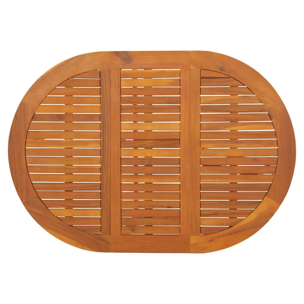 Acheter vidaxl table abattants d 39 ext rieur ovale bois d for Bois acacia exterieur