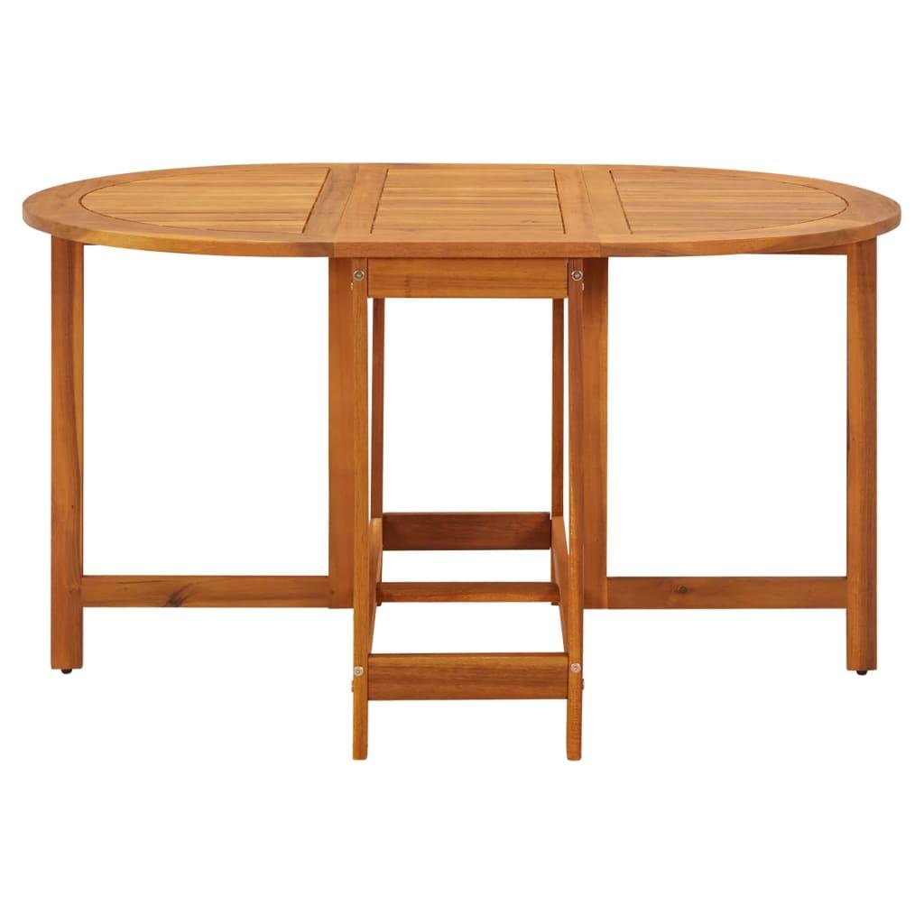 Vidaxl tavolo ovale per esterni pieghevole in legno di - Tavolo in legno pieghevole ...