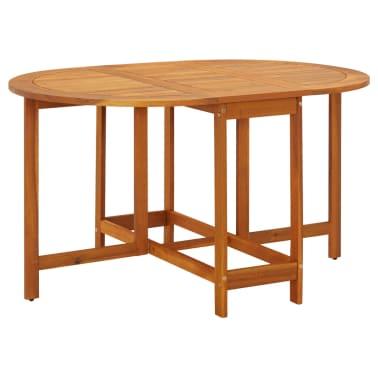 Acheter vidaxl table abattants d 39 ext rieur ovale bois d for Table exterieur acacia
