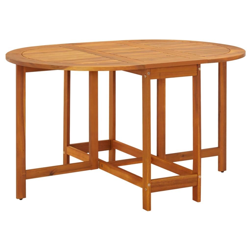 Vidaxl tavolo ovale per esterni pieghevole in legno di acacia - Tavolo pieghevole in legno ...