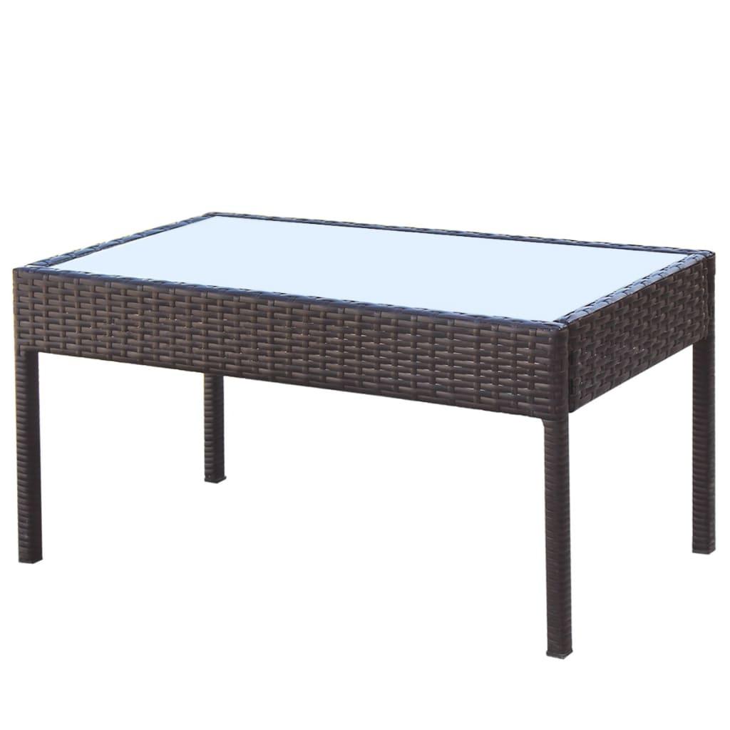 Vidaxl conjunto de sof s de jard n 7 piezas poli rat n for Conjuntos de sofas para jardin