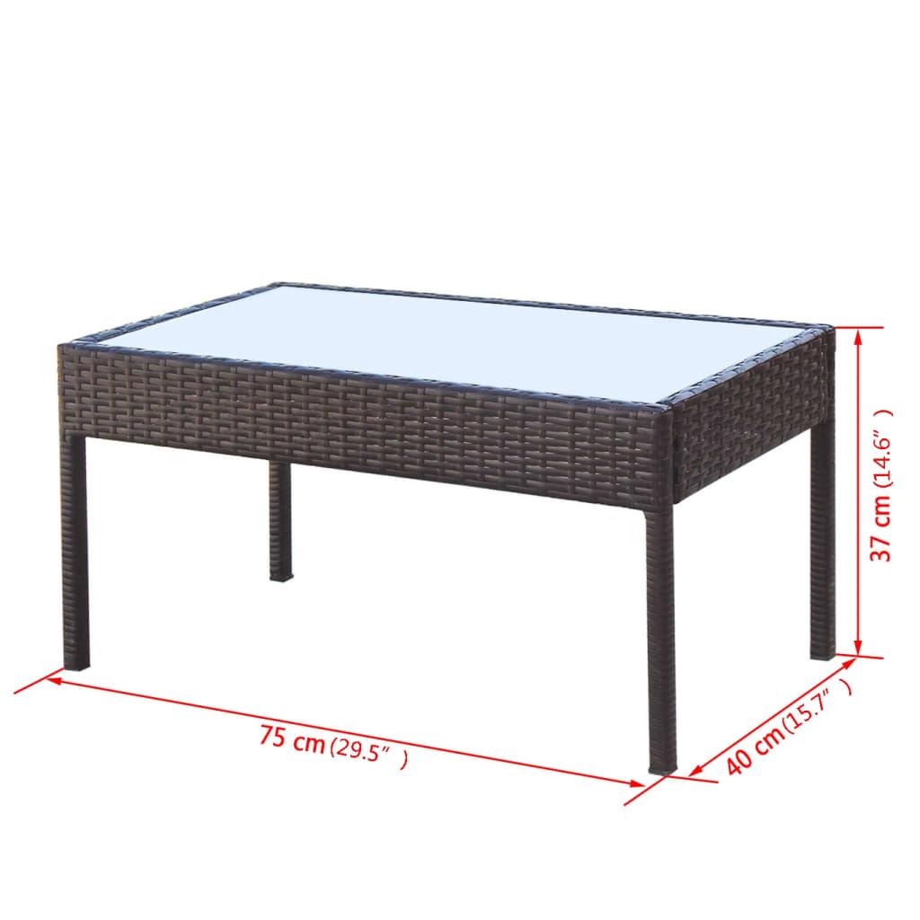 Vidaxl conjunto de sof s de jard n 7 piezas poli rat n for Sofas de ratan para jardin