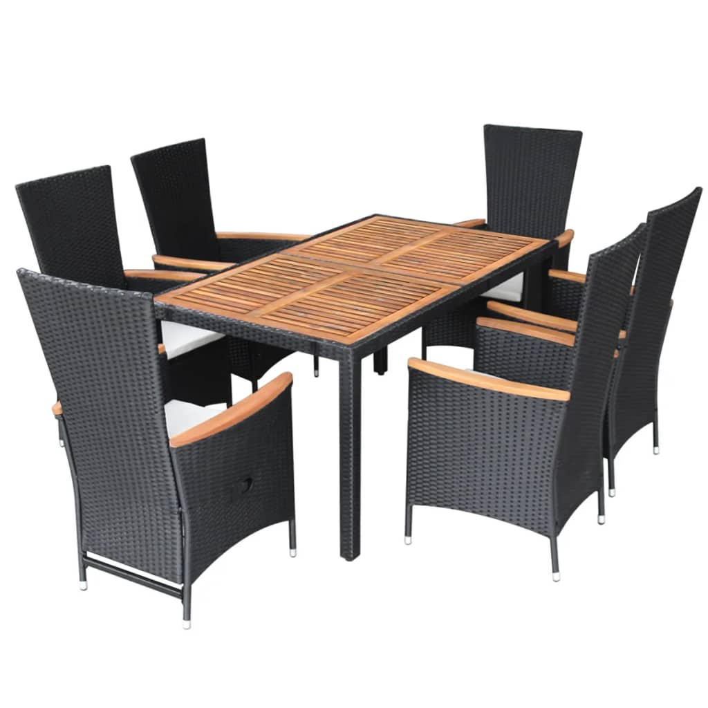 vidaxl garten essgruppe 13 tlg schwarz poly rattan akazienholz xxl g nstig kaufen. Black Bedroom Furniture Sets. Home Design Ideas