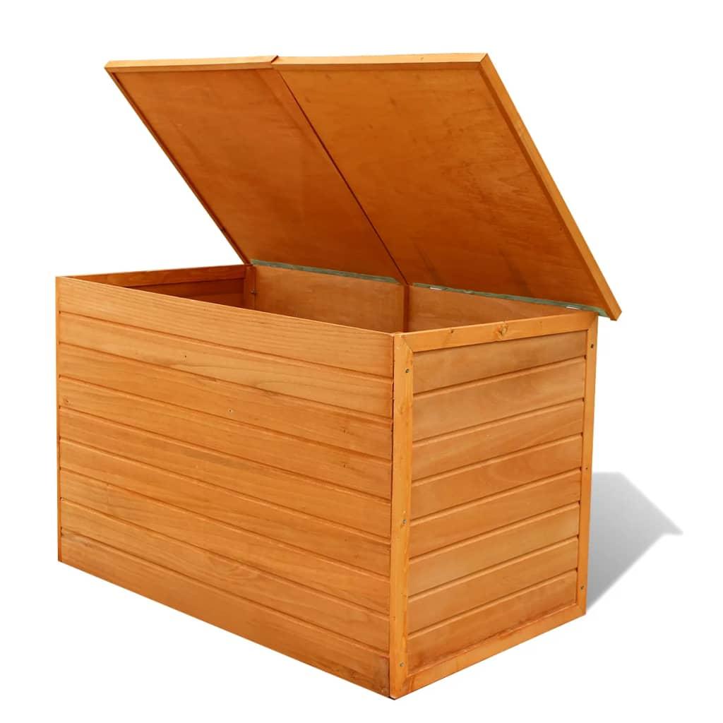 acheter vidaxl bo te de rangement de jardin bois pas cher. Black Bedroom Furniture Sets. Home Design Ideas