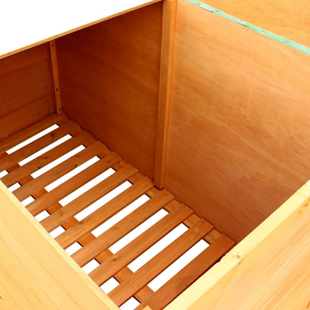 Vidaxl caja de almacenamiento para jard n madera for Galpon de madera para jardin