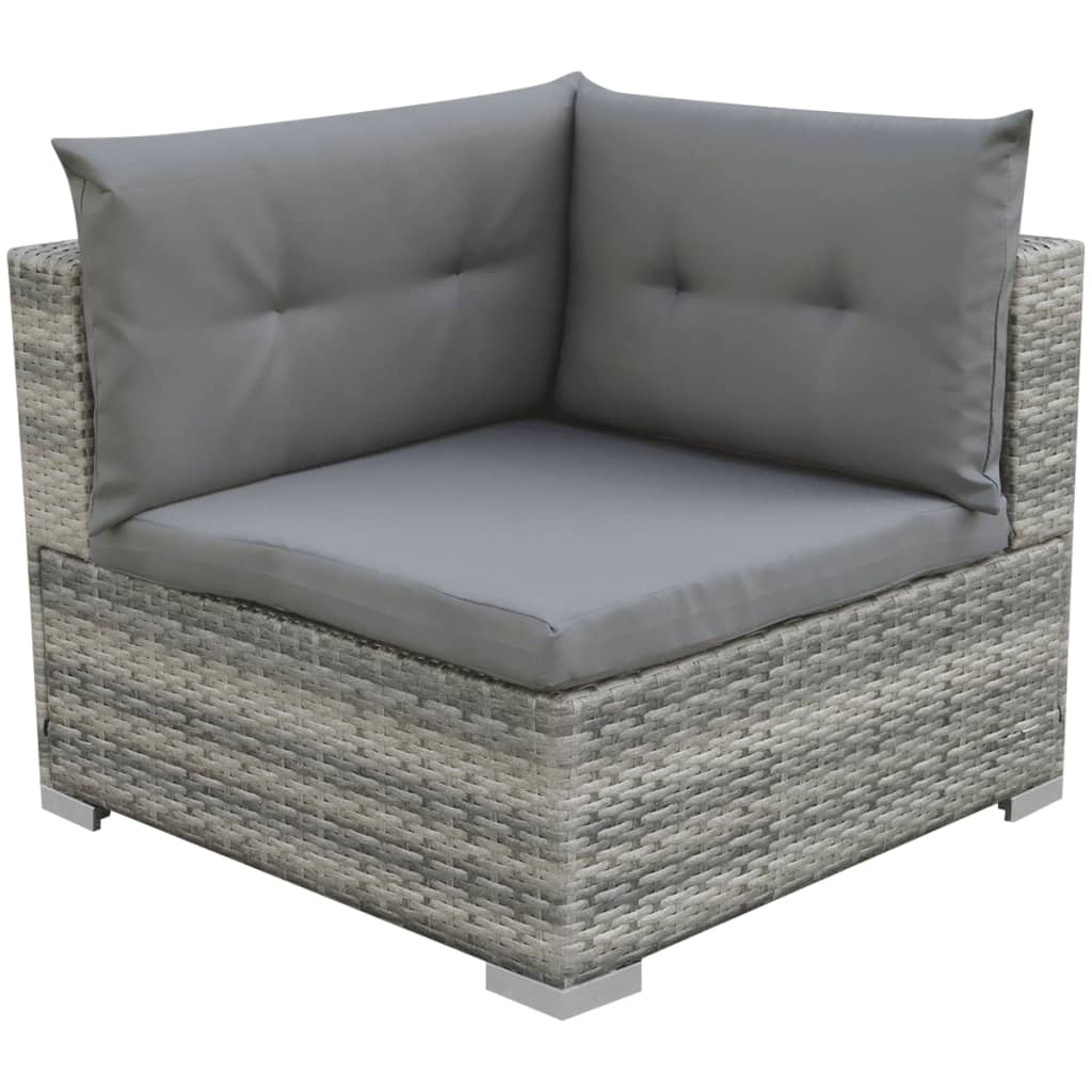 vidaxl poly rattan gartensofa 32 tlg grau sitzgruppe. Black Bedroom Furniture Sets. Home Design Ideas
