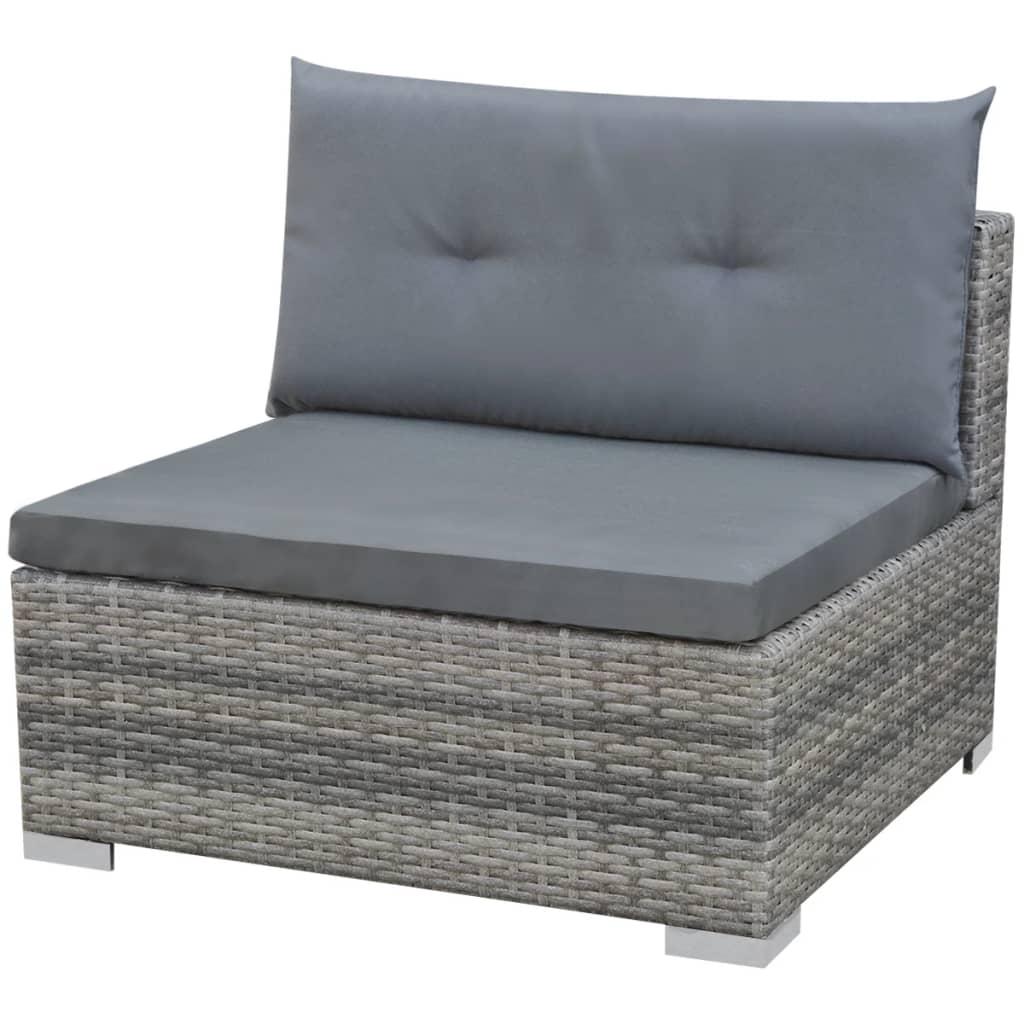 vidaxl poly rattan gartensofa 32 tlg grau sitzgruppe lounge gartenm bel set ebay. Black Bedroom Furniture Sets. Home Design Ideas
