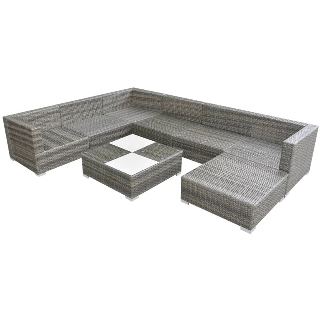 Vidaxl conjunto de sof s de jard n 24 piezas poli rat n for Conjuntos de sofas para jardin