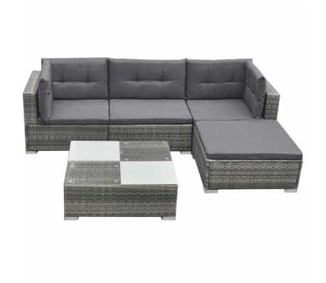 lounging furniture. VidaXL Garden Sofa Set 14 Piece Rattan Wicker Patio Outdoor Lounging Furniture D