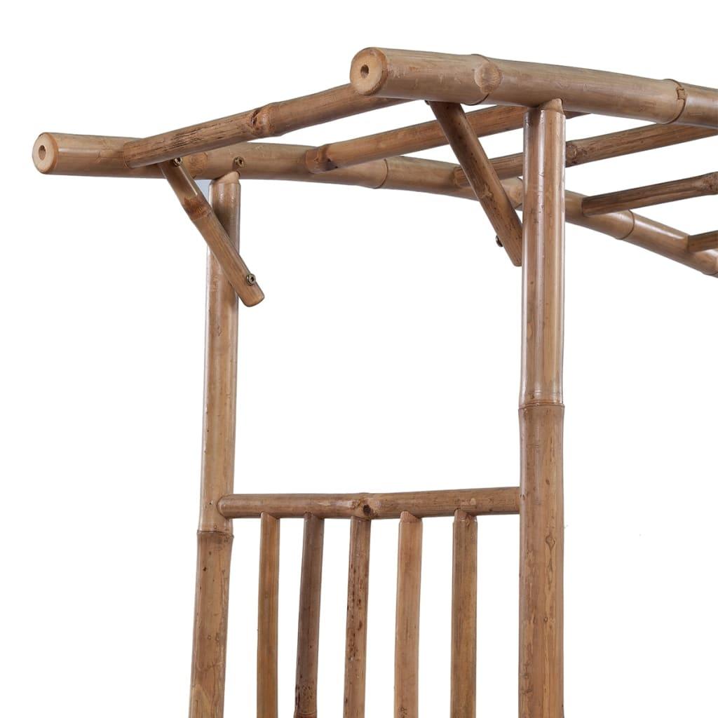 acheter vidaxl arche pour rosiers bambou 145 x 40 x 187 cm pas cher. Black Bedroom Furniture Sets. Home Design Ideas