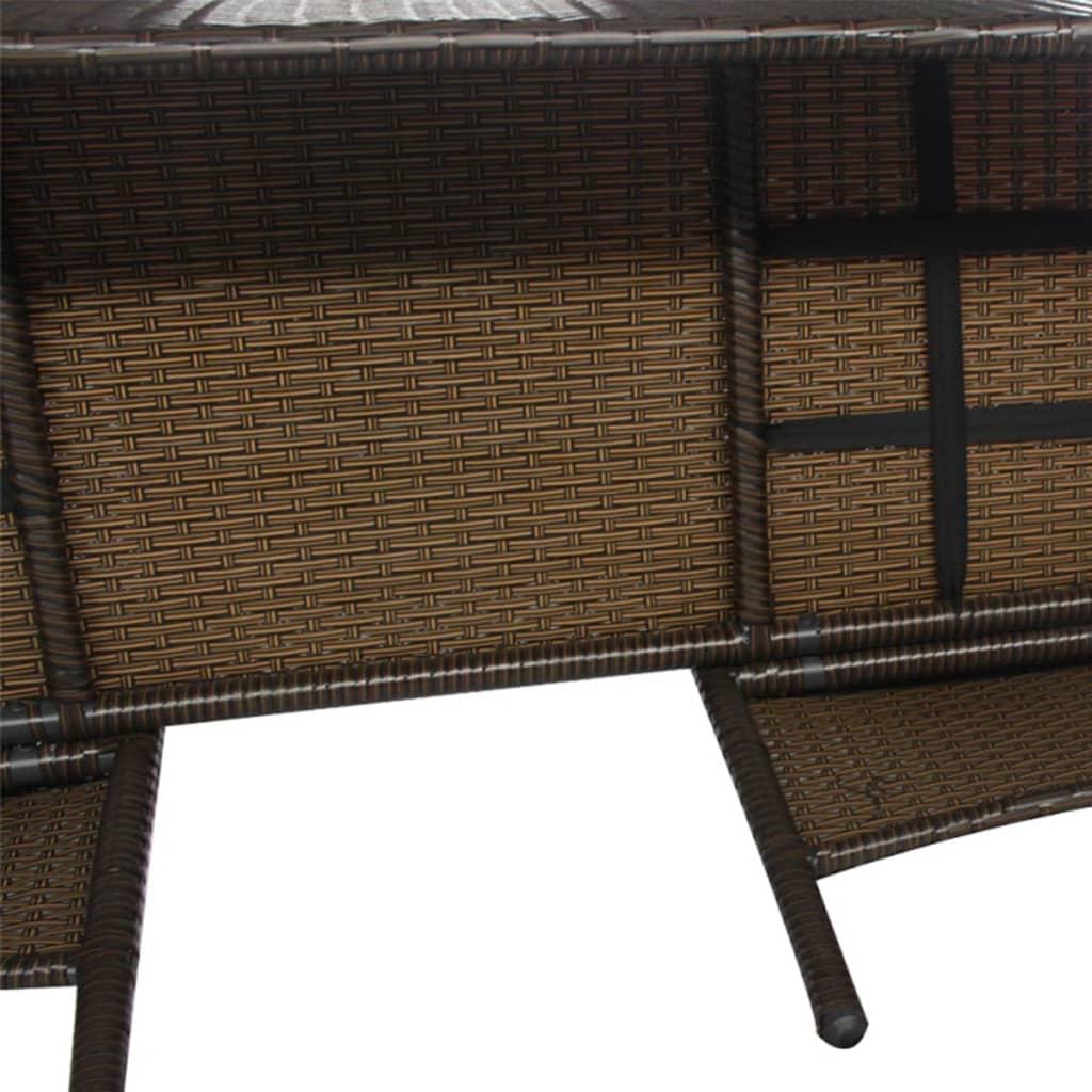 vidaxl poly rattan 2 sitzer bank mit teetisch braun gartenbank gartenm bel set ebay. Black Bedroom Furniture Sets. Home Design Ideas