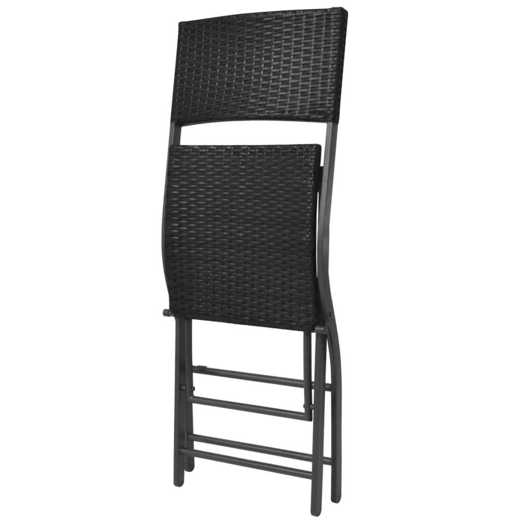 vidaxl poly rattan gartenbar 5 tlg schwarz gartenm bel. Black Bedroom Furniture Sets. Home Design Ideas