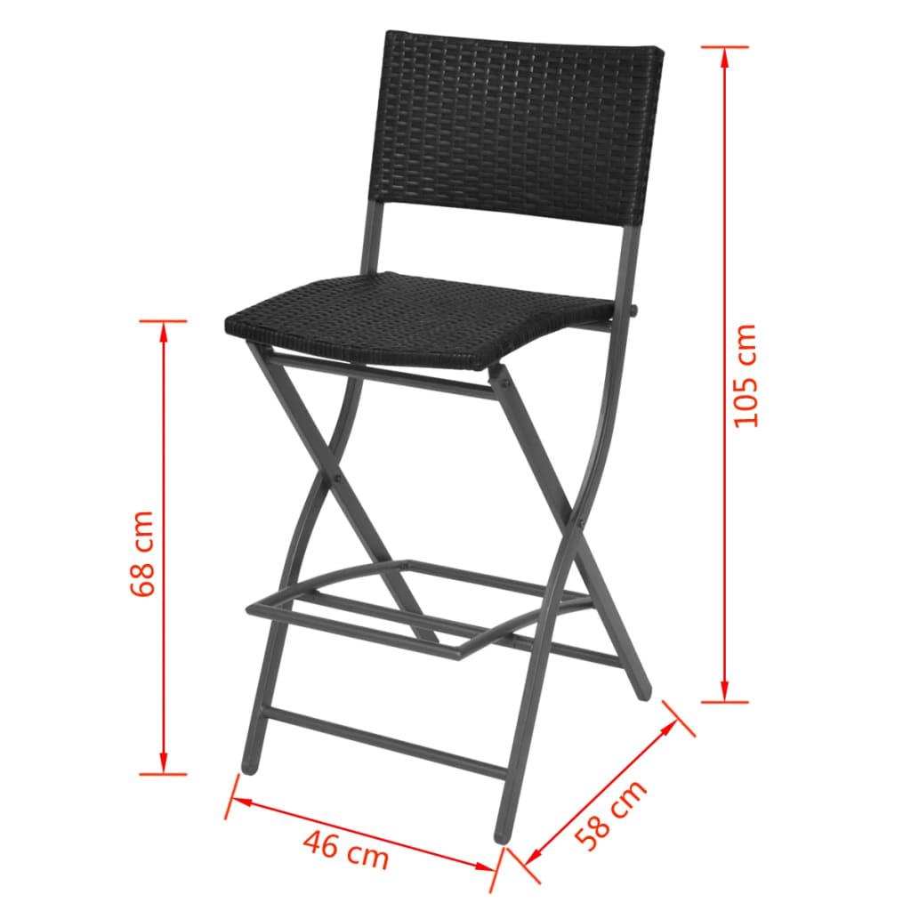 vidaxl barset voor buiten poly rattan zwart 5 delig bar set tuin meubels tafel ebay. Black Bedroom Furniture Sets. Home Design Ideas