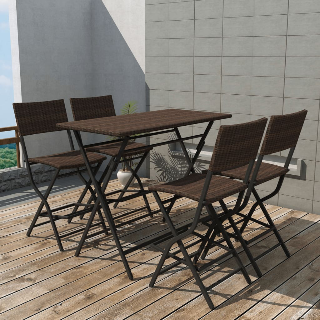 patio folding clear basics products round table black comfort onespace pin