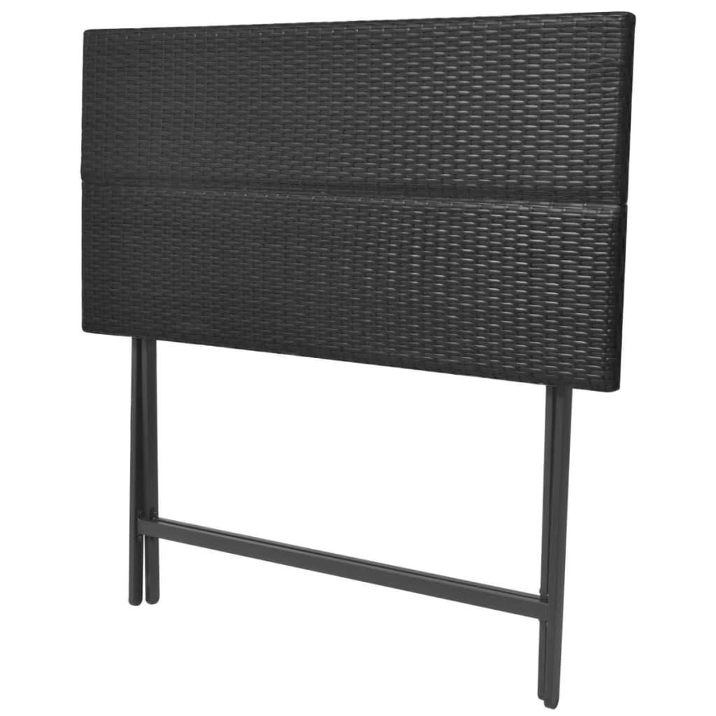 acheter vidaxl ensemble de bar d 39 ext rieur 7 pcs rotin synth tique noir pas cher. Black Bedroom Furniture Sets. Home Design Ideas