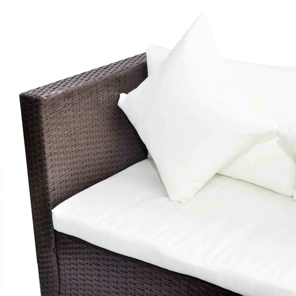 vidaxl lounge set poly rattan braun gartenm bel sitzgruppe sitzgarnitur sofa ebay. Black Bedroom Furniture Sets. Home Design Ideas