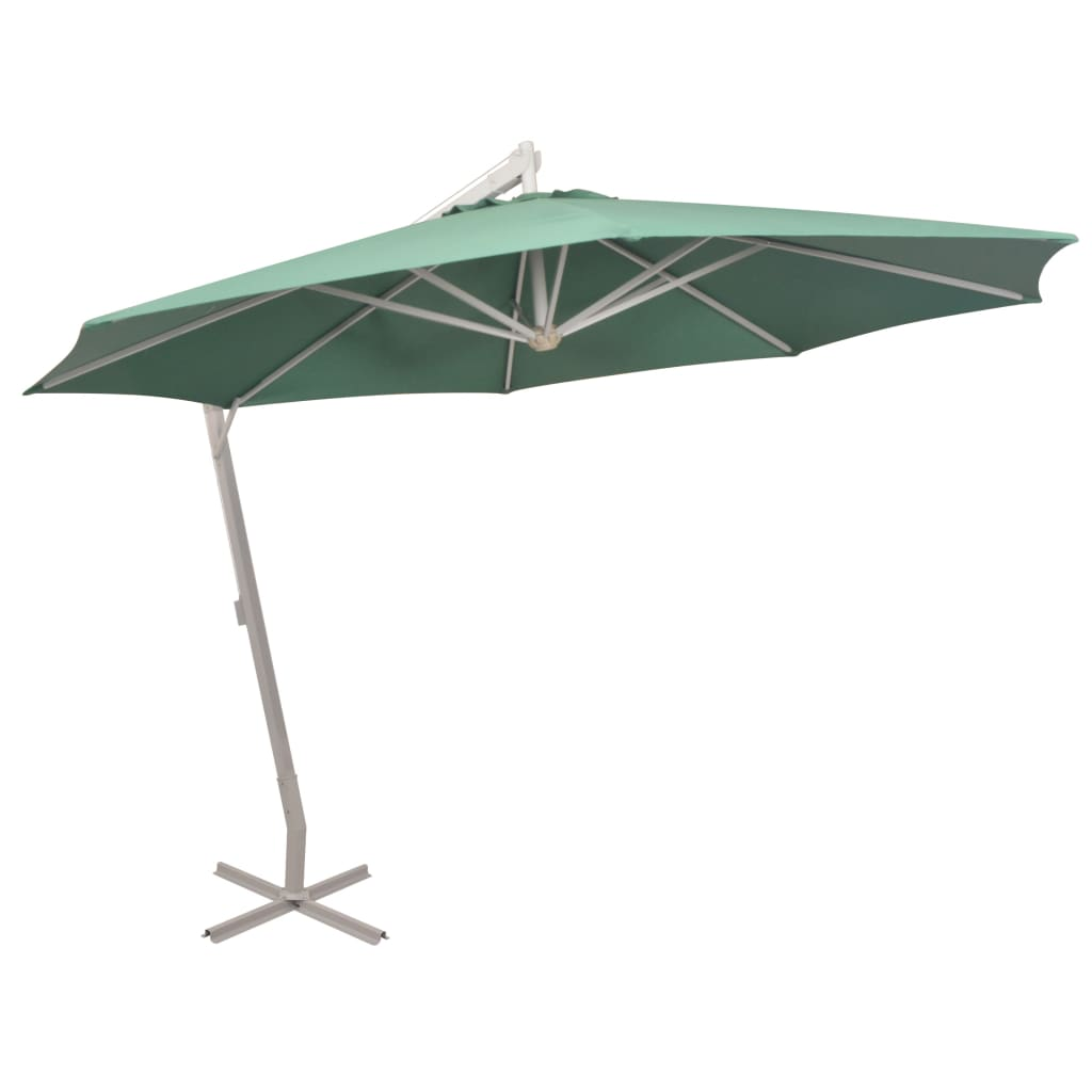 vidaXL zöld függő napernyő alumínium rúddal 350 cm