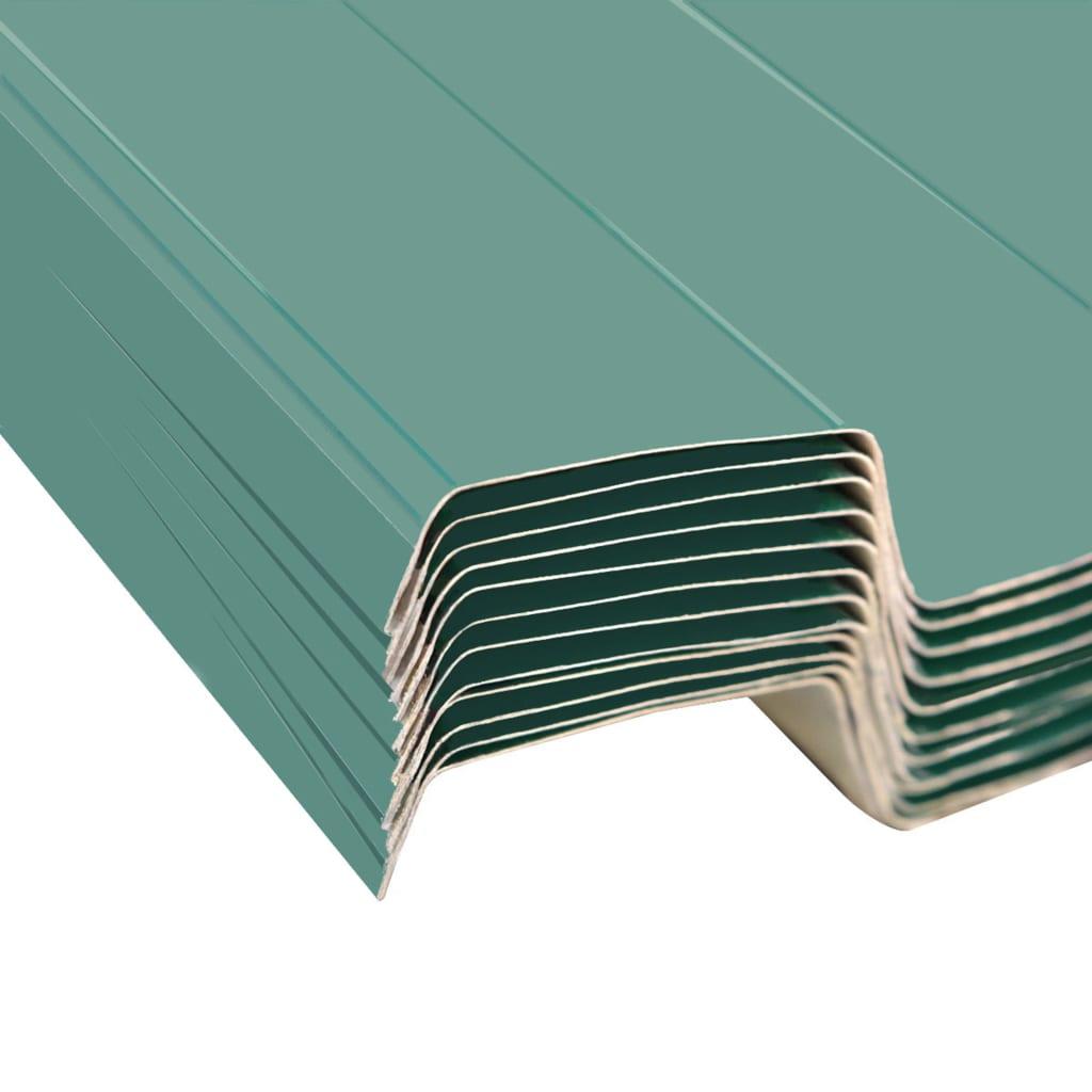 acheter vidaxl t le en acier galvanis 12 pi ces vert pas. Black Bedroom Furniture Sets. Home Design Ideas