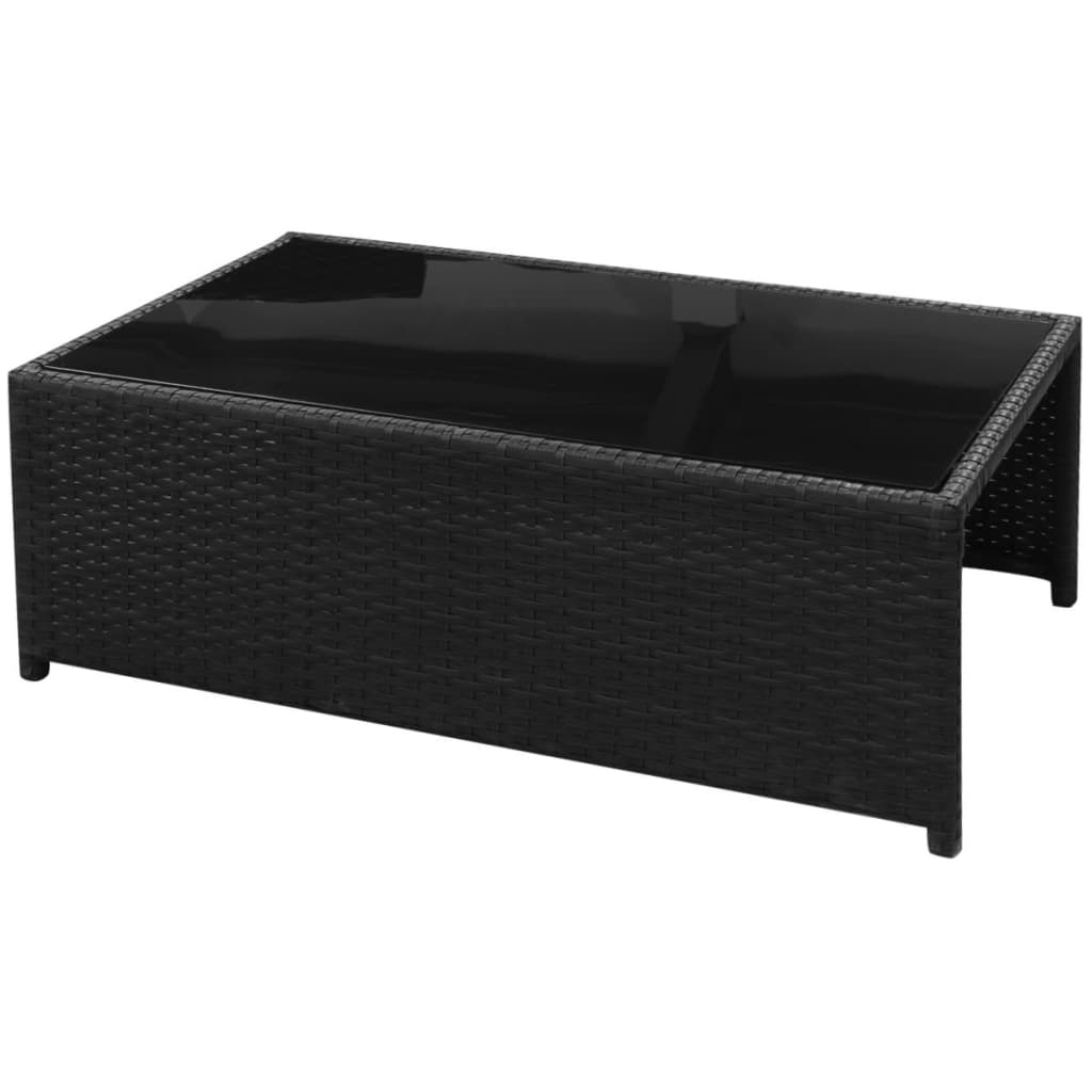 vidaXL-Garden-Sofa-Set-26-Pieces-Poly-Rattan-Black-Outdoor-Patio-Couch-Lounge thumbnail 9