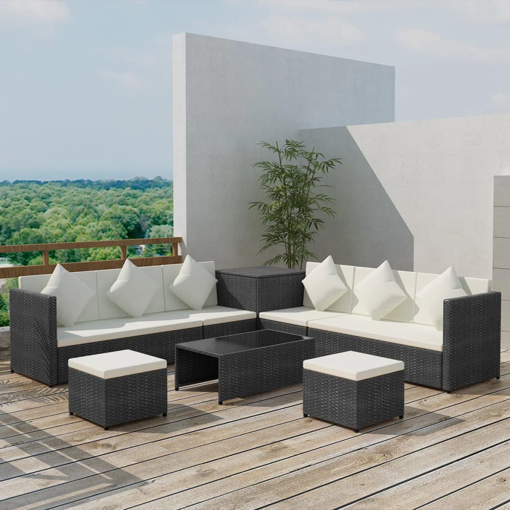 vidaXL-Garden-Sofa-Set-26-Pieces-Poly-Rattan-Black-Outdoor-Patio-Couch-Lounge