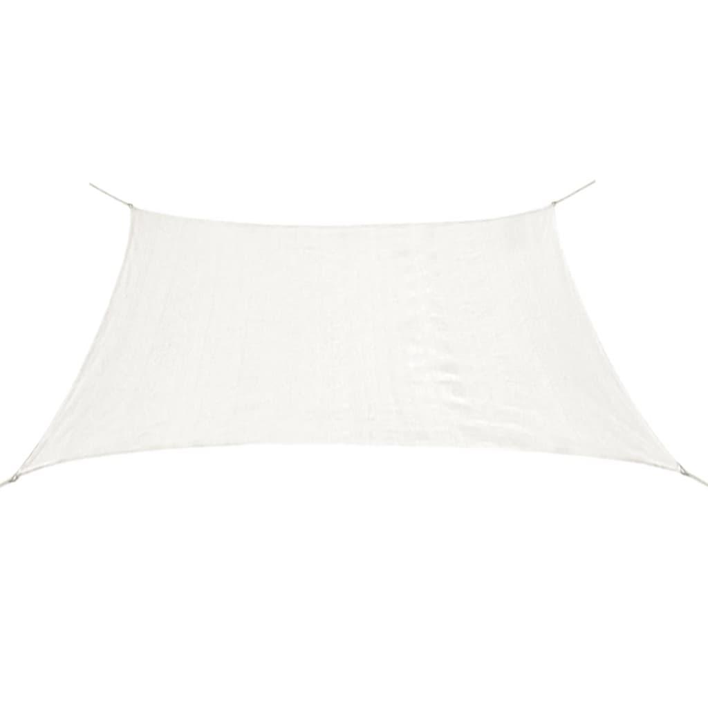 vidaXL téglalap alakú HDPE napvitorla 2 x 4 m fehér