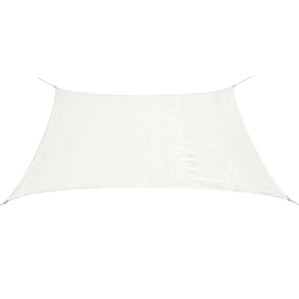 vidaXL téglalap alakú HDPE napvitorla 4 x 6 m fehér