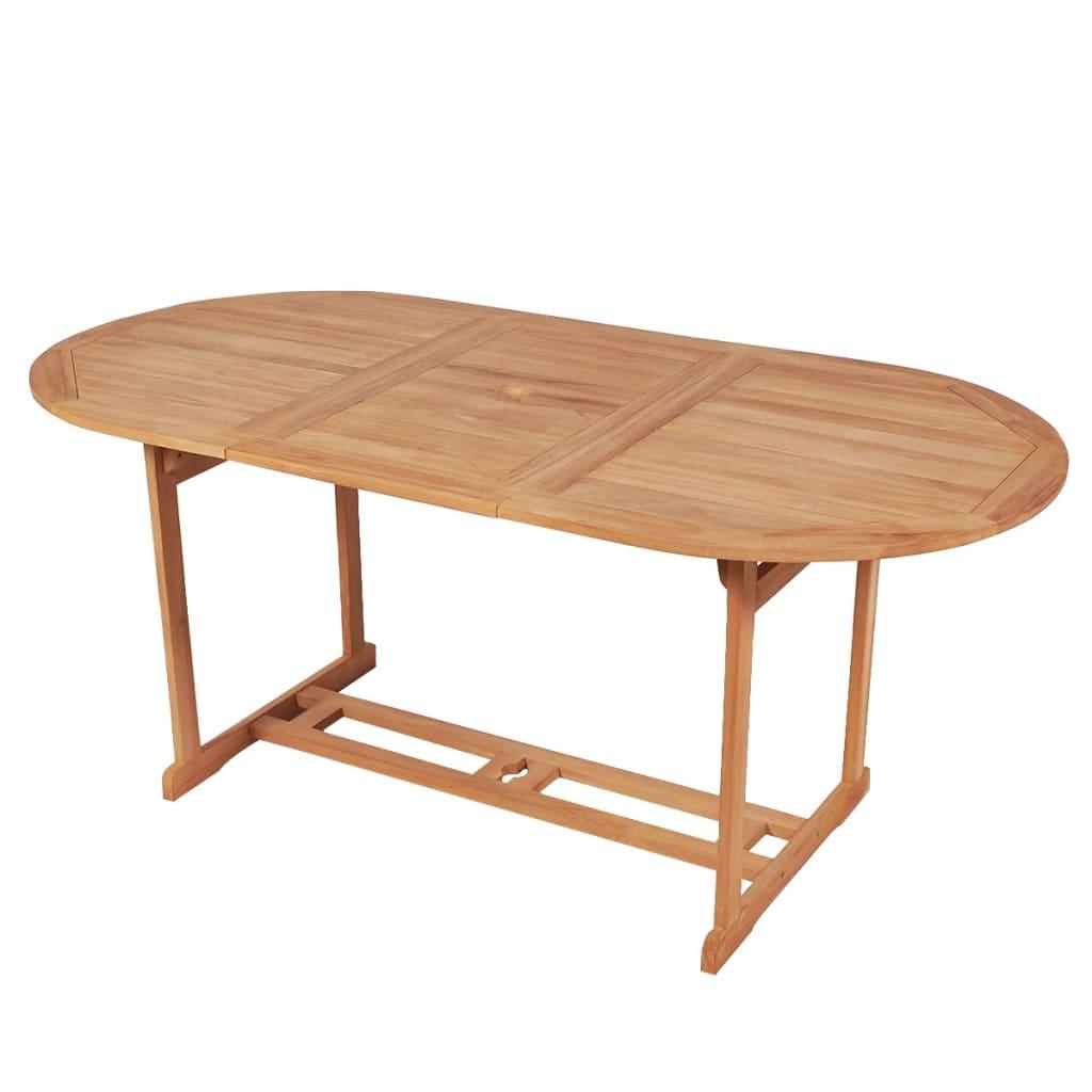 vidaXL kültéri tíkfa étkezőasztal 180 x 90 75 cm