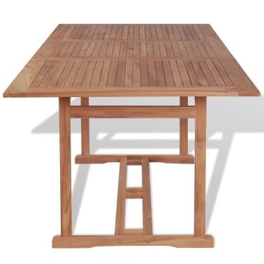 vidaxl table manger rectangulaire d 39 ext rieur 180x90x75 cm teck. Black Bedroom Furniture Sets. Home Design Ideas