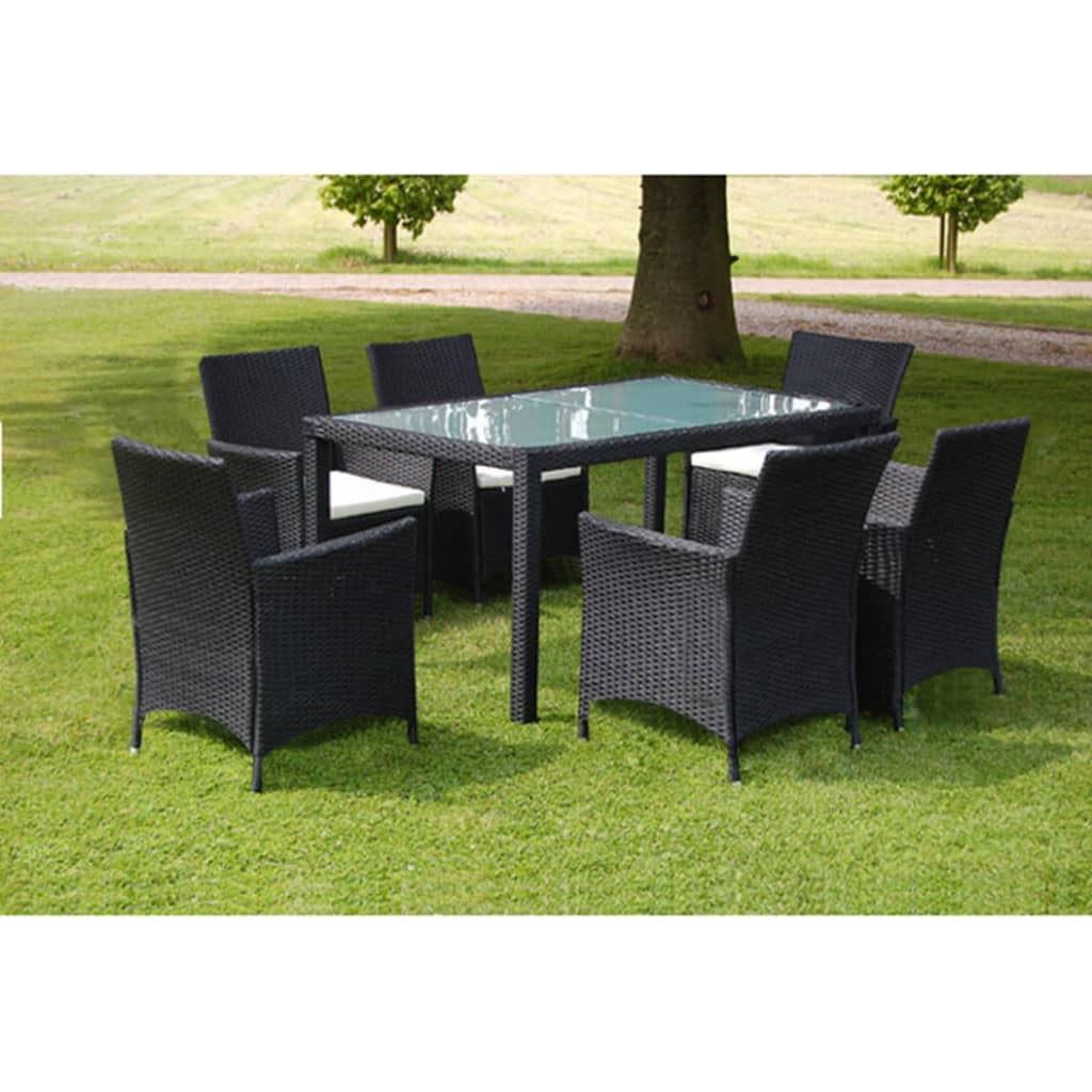 vidaxl ensemble de mobilier salon de jardin 13 pi ces rotin synth tique noir ebay. Black Bedroom Furniture Sets. Home Design Ideas