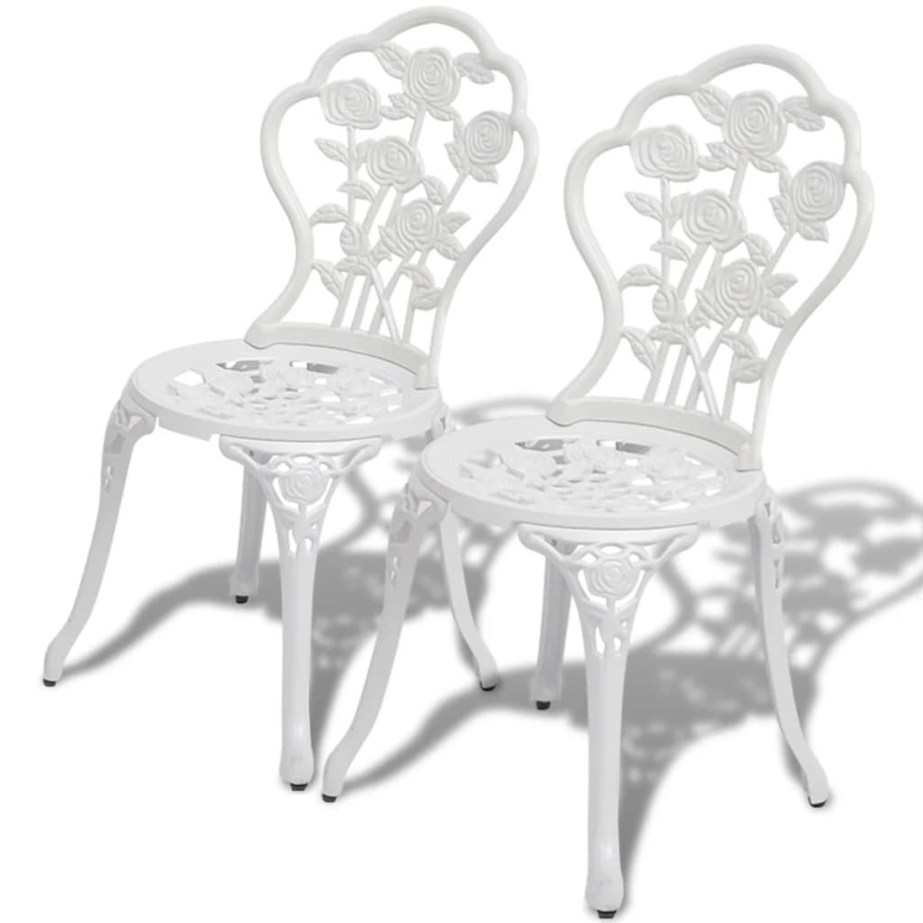 vidaXL 2 db fehér öntött alumínium bisztró szék 41 x 49 81,5 cm