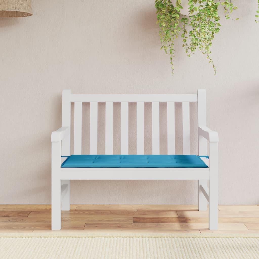 vidaXL kék kerti pad párna 100 x 50 3 cm