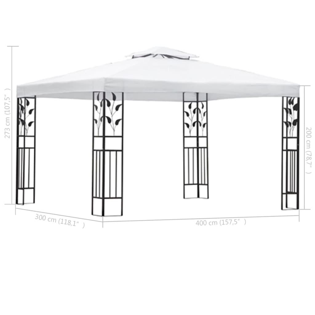 vidaxl gartenpavillon wei 3 x 4 m g nstig kaufen. Black Bedroom Furniture Sets. Home Design Ideas