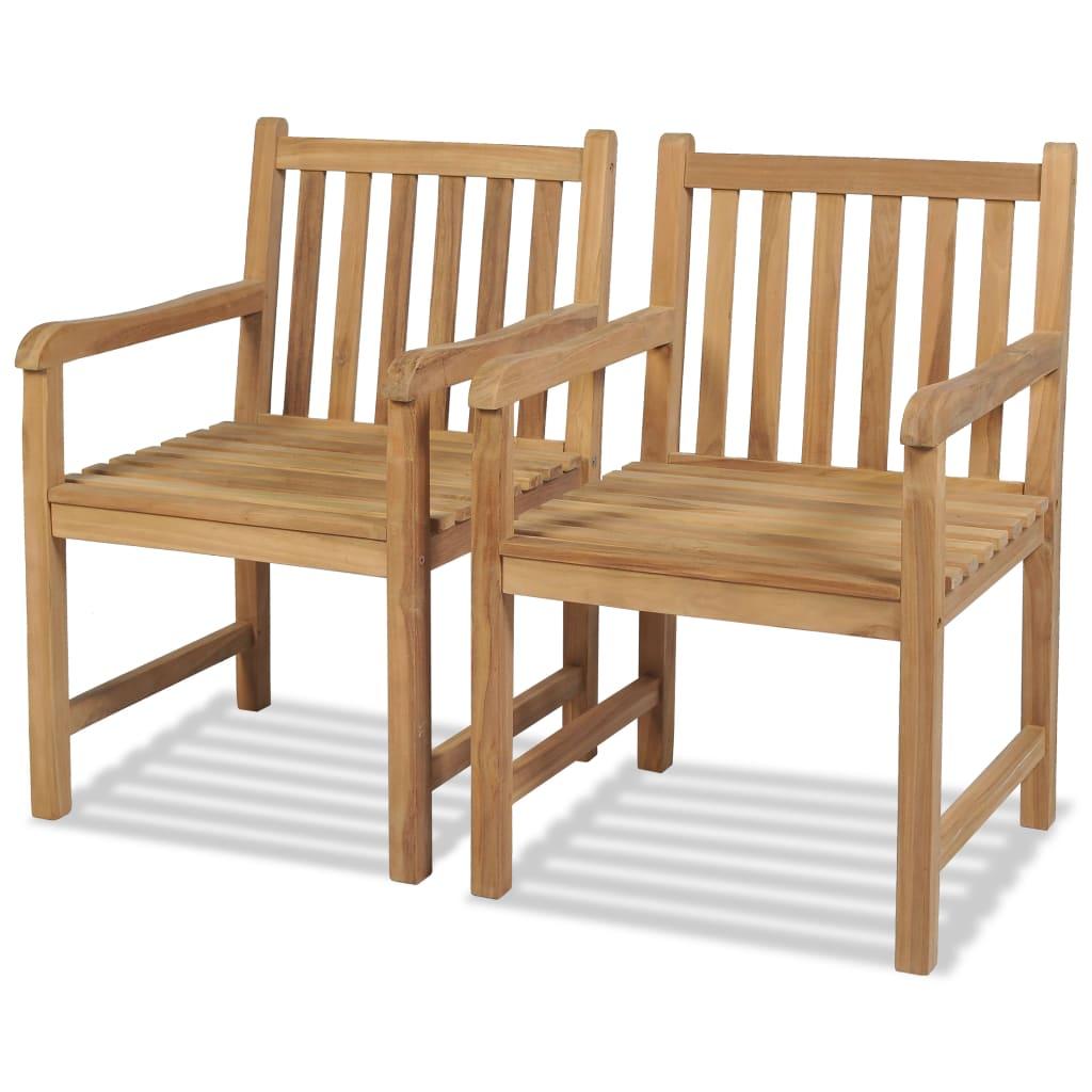 vidaXL 2 db kültéri tíkfa szék 58 x 60 90 cm