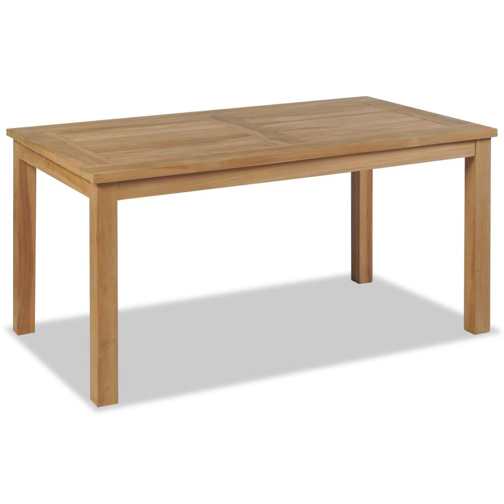 vidaXL tíkfa dohányzóasztal 90 x 50 45 cm