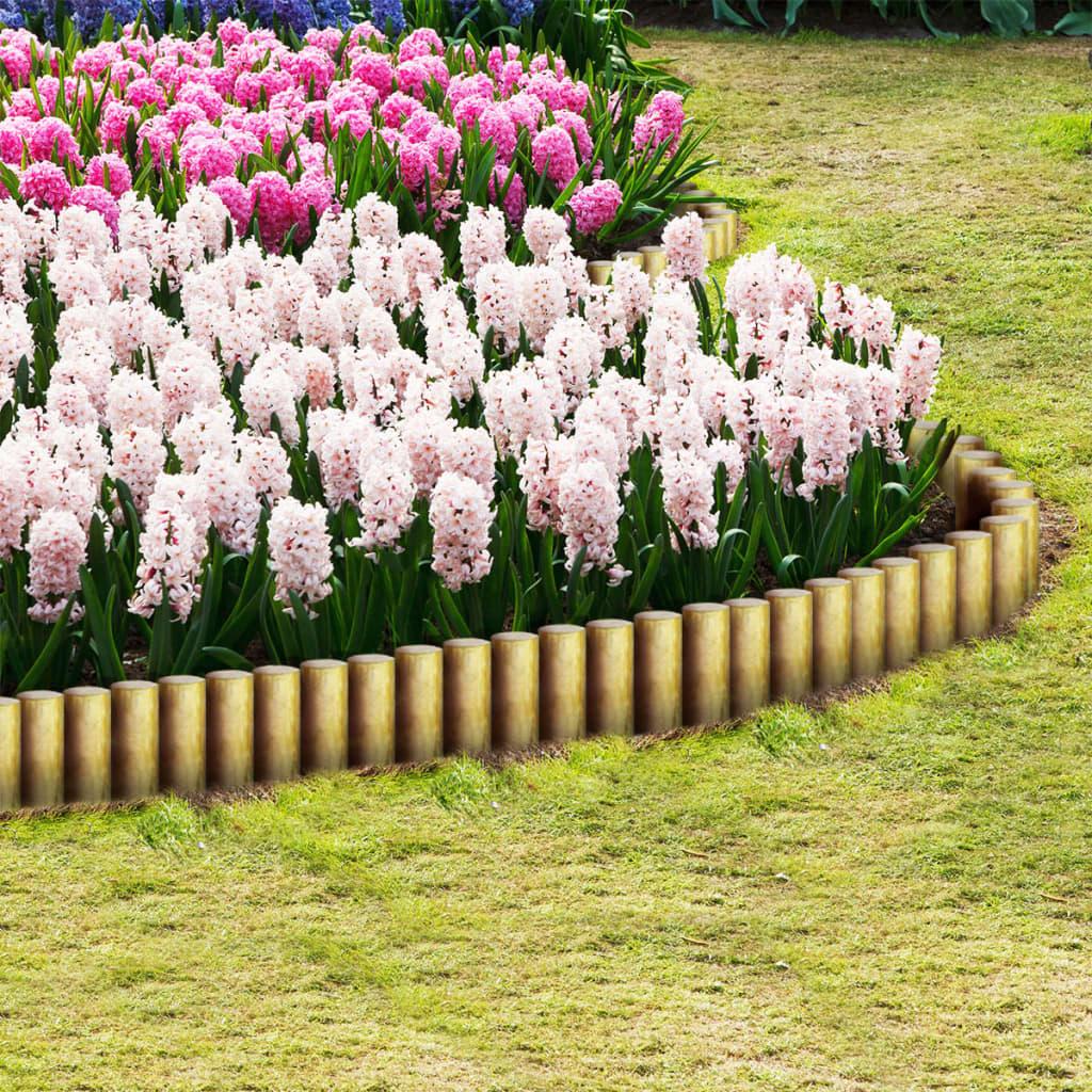 vidaXL 25 db hegyes impregnált fenyőfa kerítésoszlop 5 x 40 cm