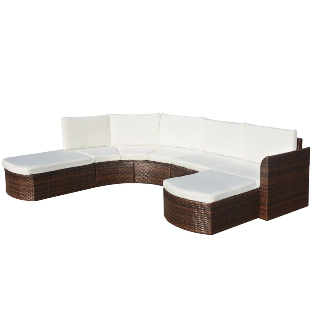 Perfekt Image Is Loading VidaXL Outdoor Sofa Set Wicker Poly Rattan Brown