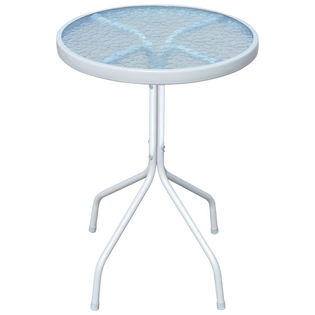 vidaXL szürke, kerek, kültéri asztal 50 x 71 cm