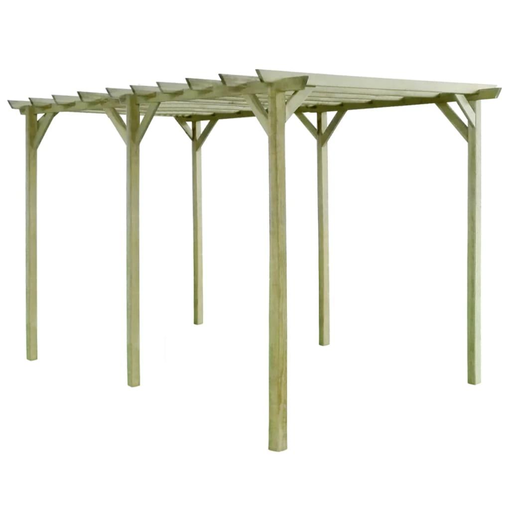 vidaXL impregnált fenyőfa kerti pergola 4 x 2 m