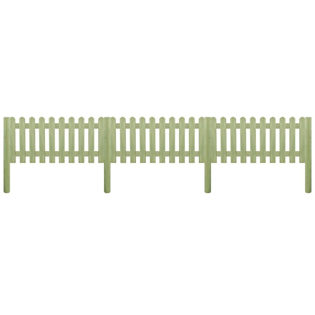 vidaXL léckerítés impregnált fenyőfa póznákkal 5,1 m 130 cm 6/9