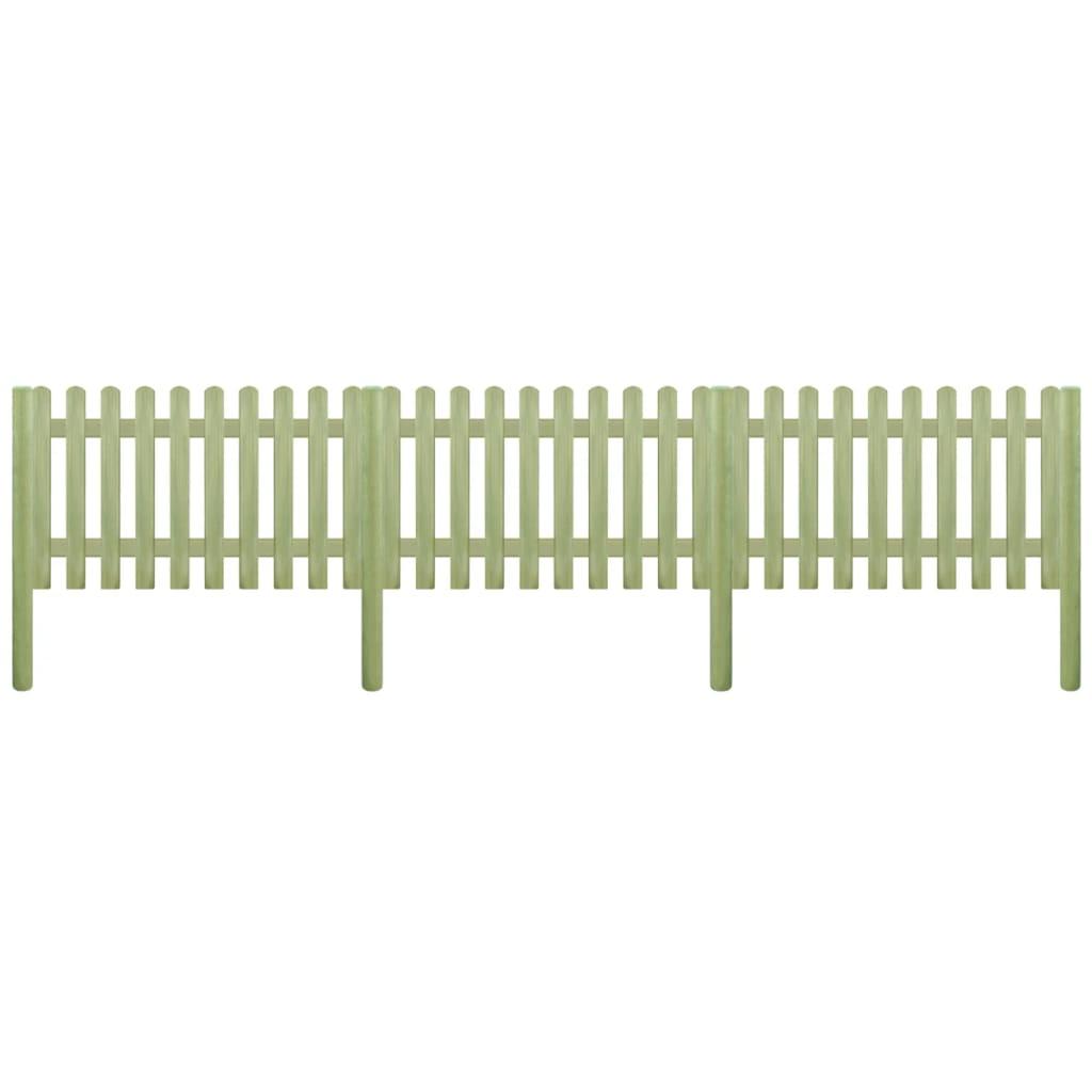 vidaXL léckerítés impregnált fenyő póznákkal 5,1 m 150 cm 6/9