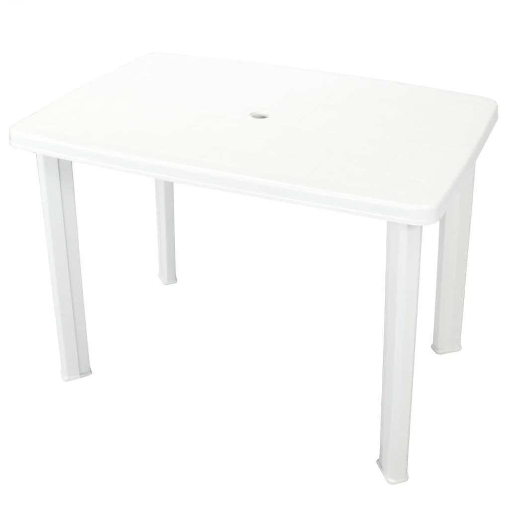 vidaXL fehér műanyag kerti asztal 101 x 68 72 cm
