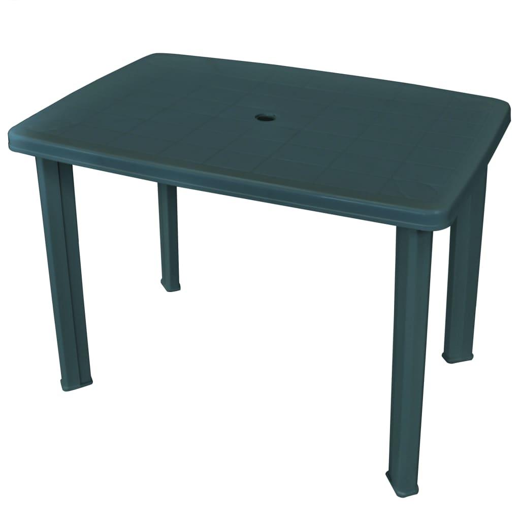 vidaXL zöld, műanyag kerti asztal 101 x 68 72 cm
