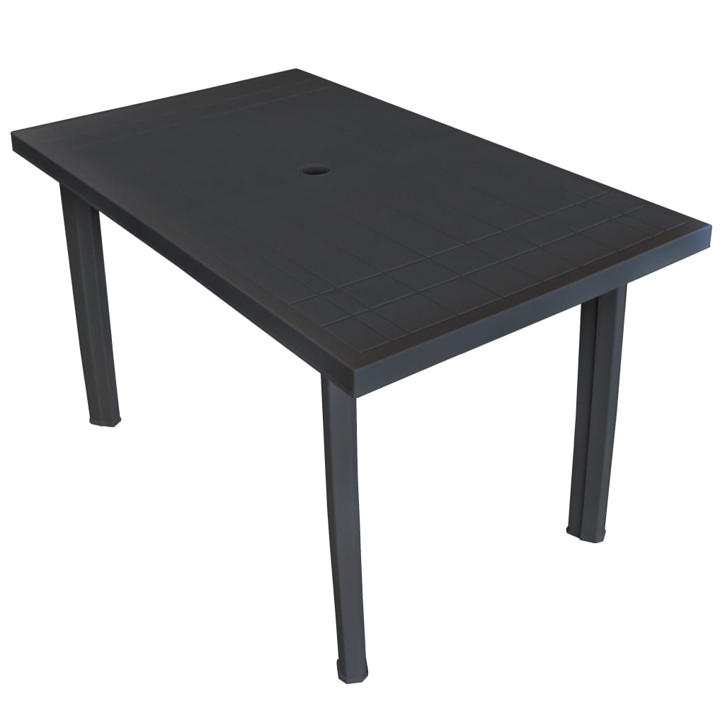 vidaxl gartentisch kunststoff campingtisch esstisch tisch wei gr n anthrazit ebay. Black Bedroom Furniture Sets. Home Design Ideas