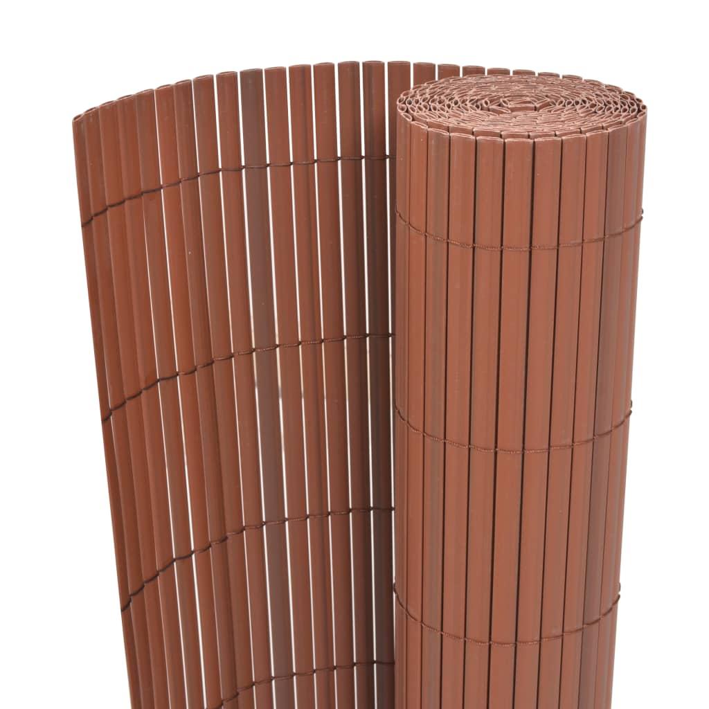 vidaXL barna kétoldalas kerti kerítés 90 x 300 cm