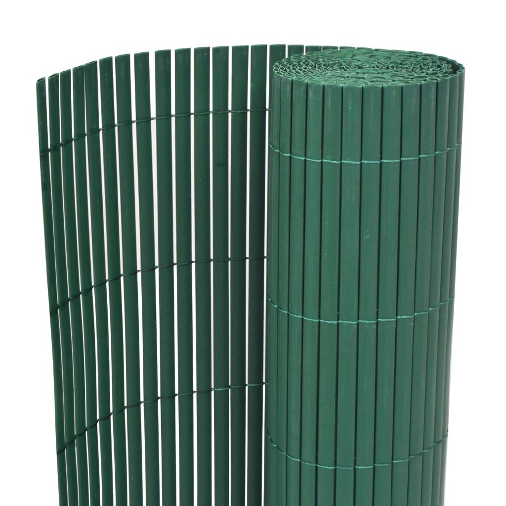 vidaXL zöld kétoldalas kerti kerítés 90 x 500 cm