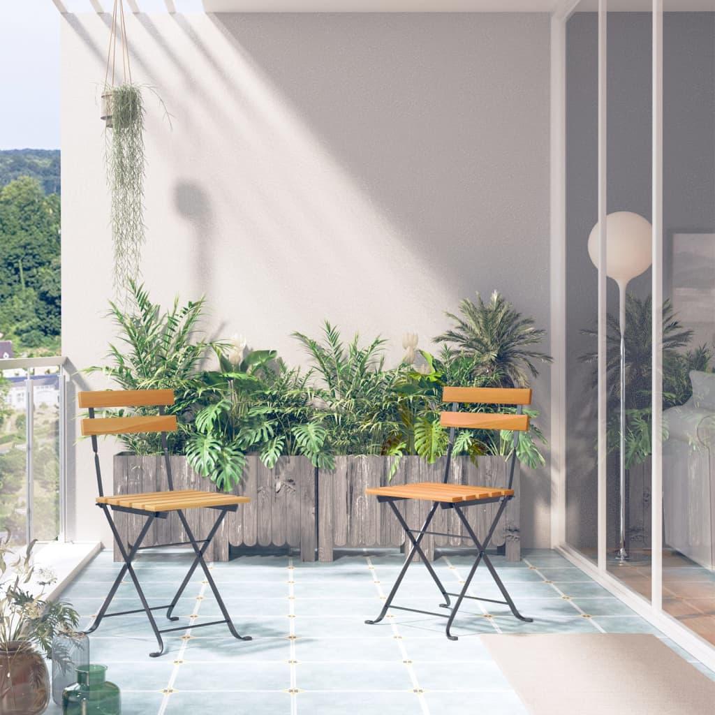 vidaXL 2 db összecsukható kerti akácfa szék 40 x 46 85 cm