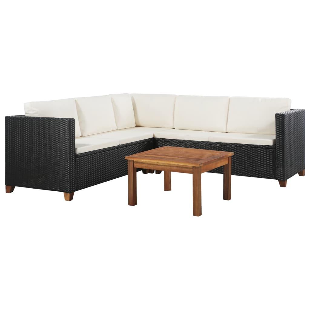 Vidaxl Garden Sofa Set 15 Pieces Poly Rattan