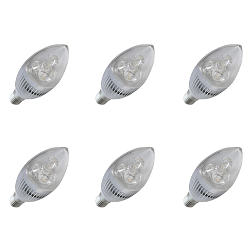 6 X 3w Led Candle Light Bulbs